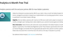 Adobe Analytics demo account